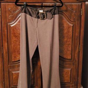 Cache Pants Size 2 with Satin & Rhinestone Belt 2